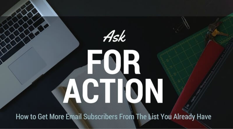 ask for action from the user
