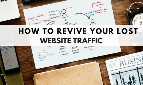 lost website traffic