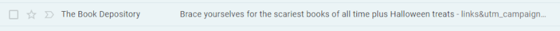 Halloween Email Subject