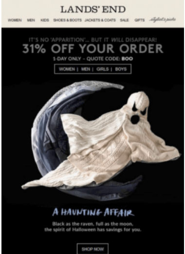 Halloween 2018 Email
