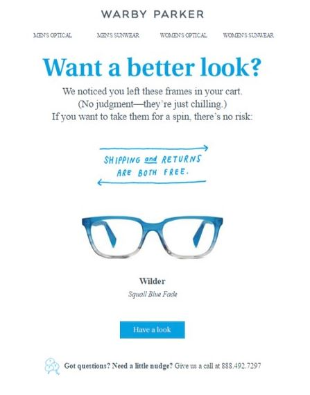 Warby Parker Email