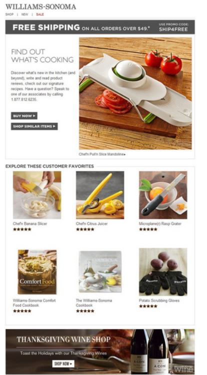 Williams-Sonoma Email